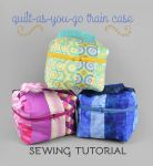 Quilt-as-you-go Train Case Sewing Pattern by SewDesuNe