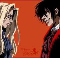 Alucard and Integra by Victoria-Poloniae