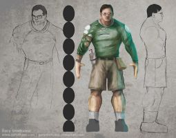Tim Sweeney Model Sheet WIP 1 by GaryStorkamp