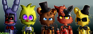 Withered Animatronics (100 watchers) by Lafergas