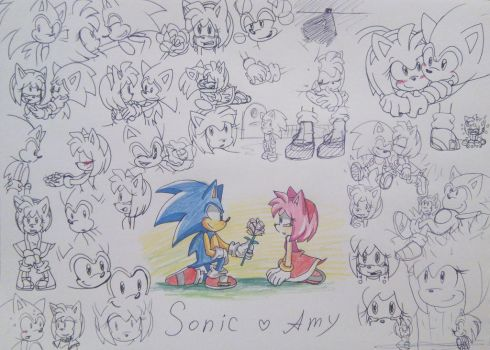 Sonic loves Amy by Shira-Cat