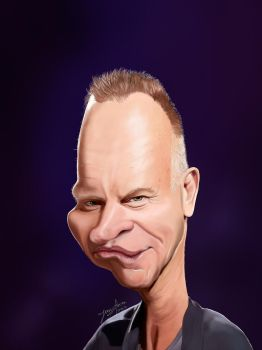 Sting caricature by r3cycled