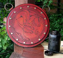 Leather Celt-Iberian Pectoral by Dmitriwolf