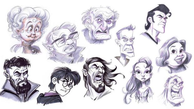 Sketchbook Head Studies by Robolus