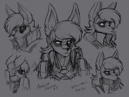 Amelia Sketches #3 by WMDiscovery93