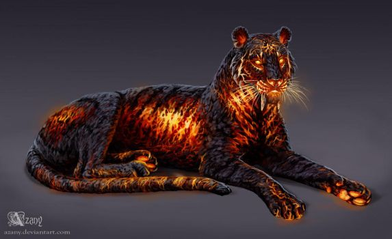 Timba the Lava Tiger by Azany