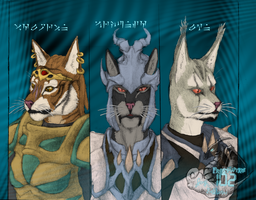 The Three Dovahkiin Colored by FrostWyrm102