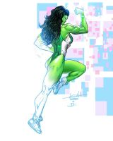 She-Hulk polymanga 2014 Dan Kemp colors by SpiderGuile