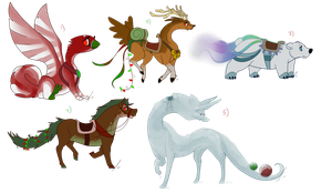DTA Christmas Mounts by jaclynonacloud