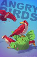 Angry Birds BADASS by Tohad