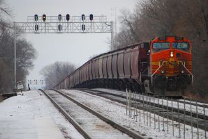 BNSF DPU Brookfield 0033 2-9-13 by eyepilot13