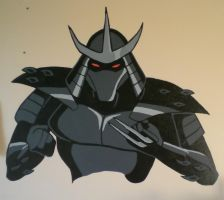 Shredder Wall Painting by ninja-doodler