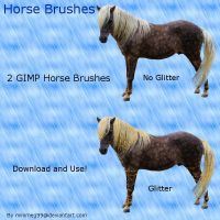 Glitter Horse + Horse Brushes by minimeg99