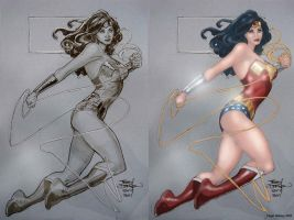 Terry Dodson's Wonder Woman by NigelHalsey