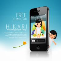 Hikari iPhone Wallpaper by mrbumbz