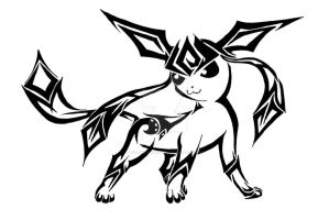 Glaceon Tribal (commission) by xxfreexxlancerxx