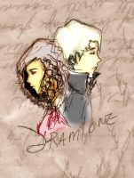 Dramione- sketch - Day 22 by Ravenmoonlace