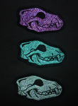 FOR SALE: SPECTRA Wolf / Fox skull patches by goiku