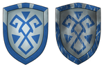 Basic iron shield prop design (Blue) by OmgDragons