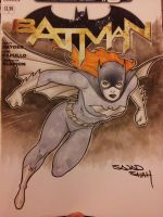batgirl sketch cover with copics commission by Sajad126