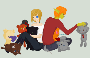 Prize: RueDee and teddys. by mysticalbadger