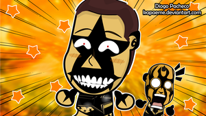 Stardust and Goldust - WWE Chibi Wallpaper by kapaeme
