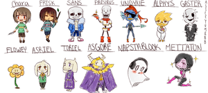 Undertale Characters  by AliceYume88