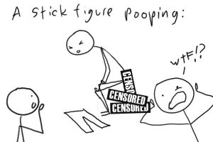 A Stick Figure Pooping by TeamColin