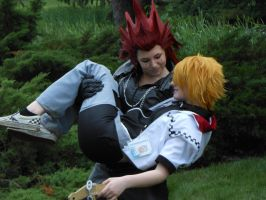 Axel and Roxas by brookeyblue