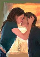 The Kiss - Edward and Bella by bolsterstone