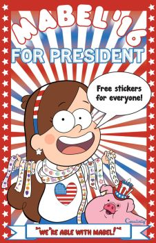 Mabel Pines for President by Carrietivity