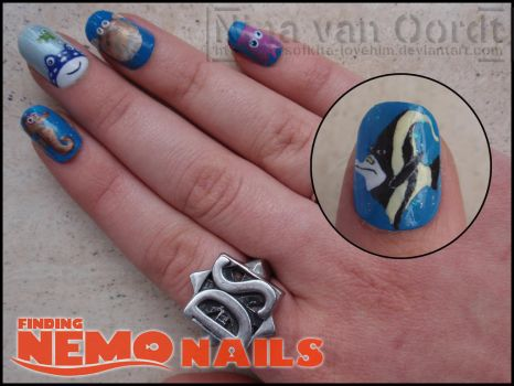 Finding Nemo nails 2 by Ninails