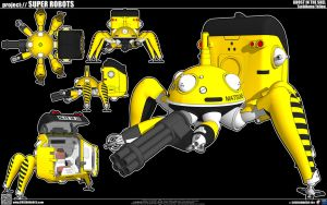 Tachikoma Yellow by cosedimarco
