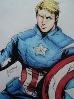 Captain America Anime by AdrianoL-Drawings