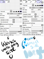 My brush settings--Copic and Lineart by Falling-Skyward