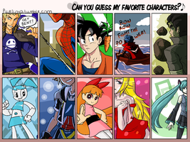 Purico - Guess My Favorite Characters by puricoXD