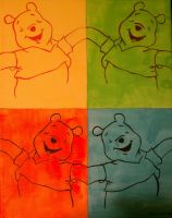 Pooh Pop Art - Hand painted by AliceLovesChes