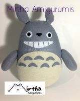 totoro plushie by Mirtha Amigurumis by MirthaAmigurumis