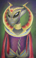 Portrait of an Alien Empress by chaos-controlled-123