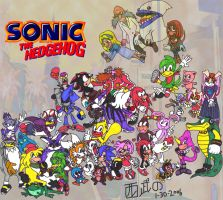 Sonic Really Big Group by TuxedoMoroboshi
