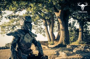 Skyrim's Ebony Armor - photoshoot #2, picture 2 by Folkenstal