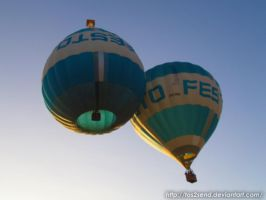 Twin Hot Air Balloons by ToS2sEnd