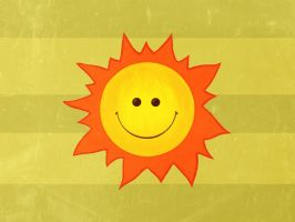 Happy Sun wallpaper by azzza