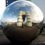 Self portrait in reflective sphere by ratofthelab