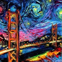 van Gogh Never Saw Golden Gate by Aja by sagittariusgallery