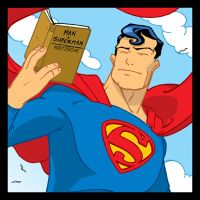 KAL EL Reads by SURFACEART