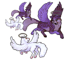angel cats by edelilah