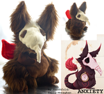 Anxiety: the Real Monster plushie! by smashfold