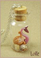 Fimo Siren in a bottle_02 by LolleBijoux