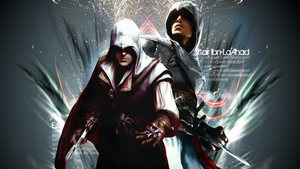 Ezio and Altair Wallpaper by Daphnecool